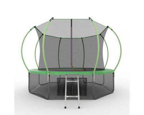 Спортивный батут с сеткой EVO Jump Internal 12ft (green) + нижняя сеть EVO Jump 14329