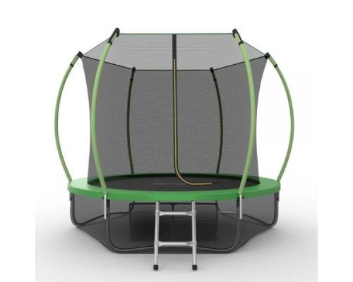 Спортивный батут с защитной сеткой EVO Jump Internal 8ft (green) + нижняя сеть EVO Jump 14327