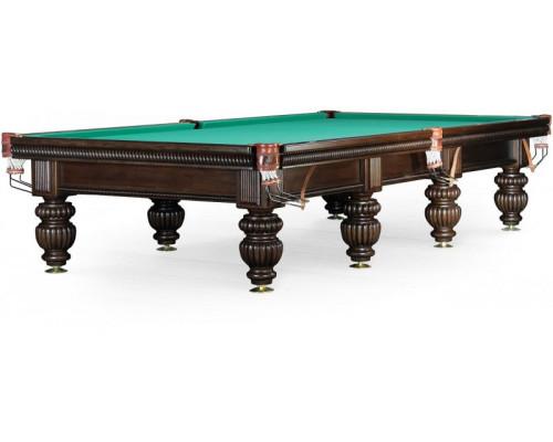 Бильярдный стол для русского бильярда «Tower» 11 ф (черный орех, 8 ног)