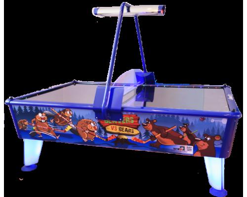 Аэрохоккей «Beavers vs Bears» 8 ф (238 х 158 х 83 см, цветной, жетоноприемник/купюроприемник)