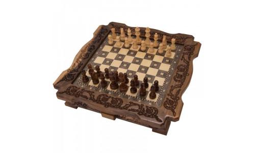 Шахматы ручной работы резные в ларце Avetyan ma404 Avetyan 17605