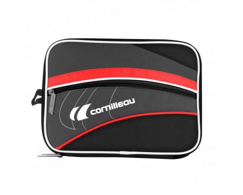 Чехол для теннисных ракеток черно-красный Cornilleau Fittcare