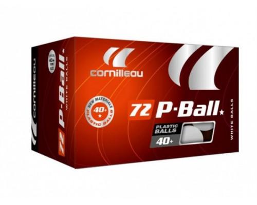 Мячи для настольного тенниса 40+ 72 шт Cornilleau P-Ball ABS EVOLUTION 1*