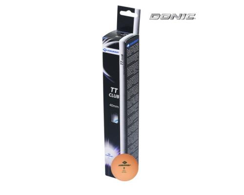 Мячики для настольного тенниса Donic 2T-CLUB, 6 штук, оранжевый