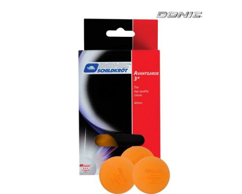 Мячики для настольного тенниса Donic Avantgarde 3, 6 штук, оранжевый