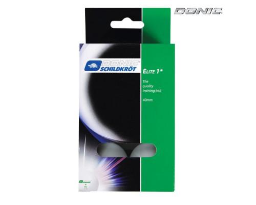 Мячики для настольного тенниса Donic Elite 1, 6 штук, белый