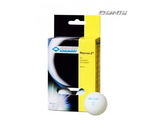 Мячики для настольного тенниса Donic Prestige 2, 6 штук, белые
