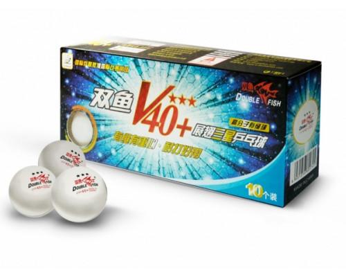Набор мячей Double Fish 40+ Three star 3 Volant (ITTF)