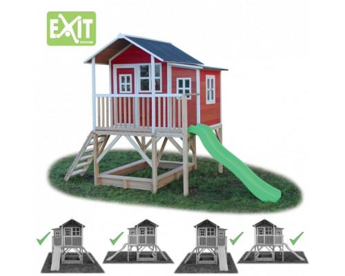 Игровой дом с горкой Exit 550 красный