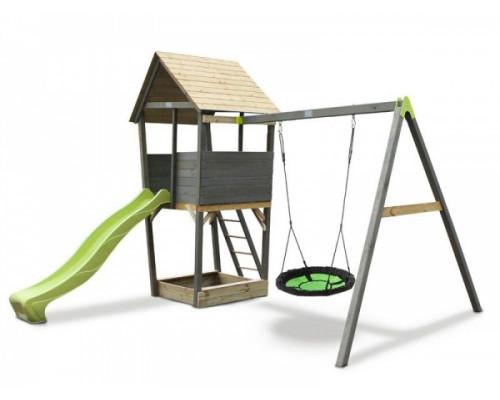 Игровой комплекс Exit Акцент с кaчелями-гнездо
