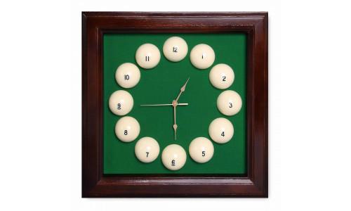 Часы в стиле русского бильярда Fortuna Billiard Equipment SR4666 коричневые 44x44 см Fortuna Billiard Equipment 15278