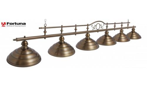 Светильник Fortuna Billiard Equipment Fortuna Modena Bronze Antique 6 плафонов Fortuna Billiard Equipment 10849