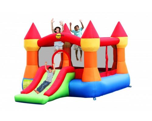 Надувной батут для детей Happy Hop Супер прыжок (оранжевые башни)