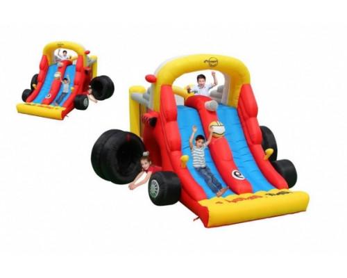Надувной батут с двойной горкой Happy Hop Формула 1