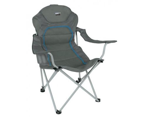 Комфортабельное кресло для кемпинга High Peak Alicante темносерый/голубой