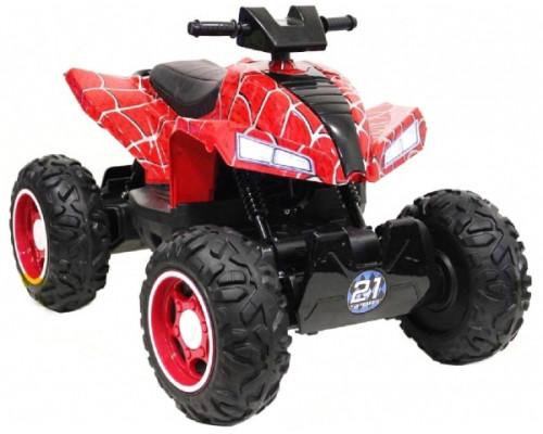 Детский электроквадроцикл Rivertoys T777TT красный-spider
