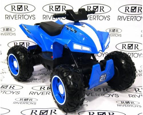 Детский электроквадроцикл Rivertoys T777TT синий