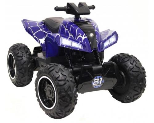 Детский электроквадроцикл Rivertoys T777TT синий-spider