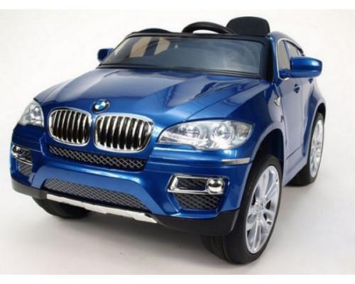 Детский электромобили Rivertoys BMW Х6 (JJ258) синий глянец