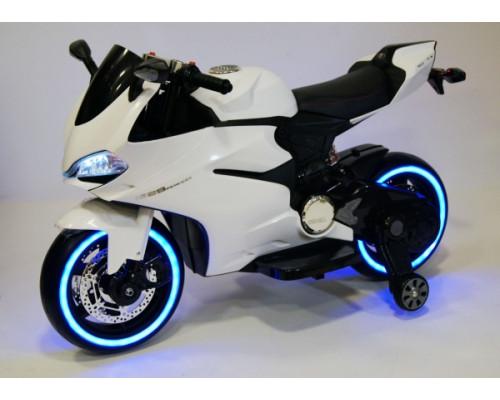 Детский электромотоцикл Rivertoys А001АА белый