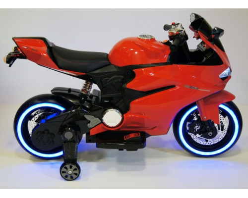 Детский электромотоцикл Rivertoys А001АА красный