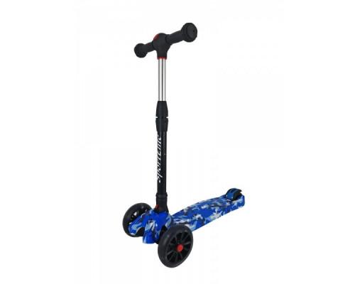 Детский самокат 4-х колесный Sport Elite SE600, синий граффити