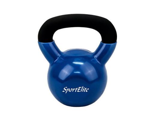 Гиря чугунная с виниловым покрытием Sport Elite 24 кг