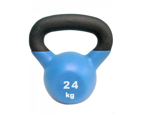 Гиря чугунная с виниловым покрытием Sport Elite 24 кг, матовая