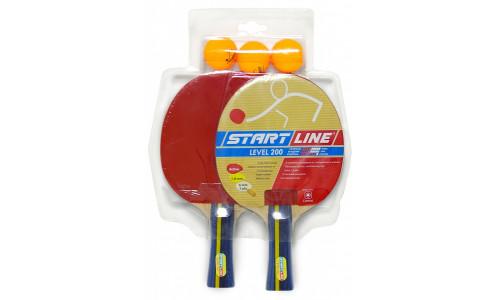 Набор для игры в настольный теннис Start Line 2 Ракетки Level 200, 3 Мяча Club Select Start Line 4873